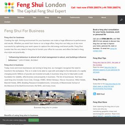 Feng Shui for Business, Feng Shui Consultations for Business, Feng Shui Consultant for Business