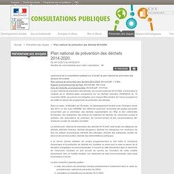 Plan national de prévention des déchets 2014-2020.