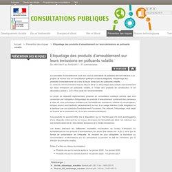 Etiquetage des produits d'ameublement sur leurs émissions en polluants volatils - Les consultations publiques du ministère de l'Environnement, de l'Énergie et de la Mer