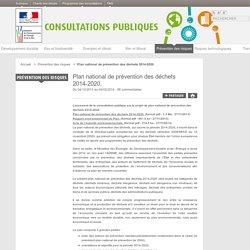 Plan national de prévention des déchets 2014-2020. - Les consultations publiques du ministère de l'Environnement, de l'Énergie et de la Mer