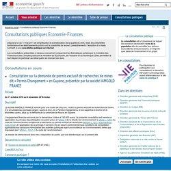 Consultations publiques Economie-Finances