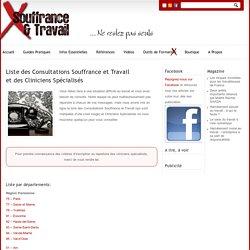 Liste des Consultations Souffrance et Travailet des Cliniciens Spécialisés