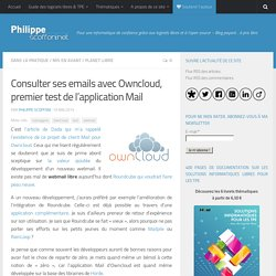 Consulter ses emails avec Owncloud, premier test de l'application Mail par