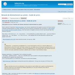 Consulter le sujet - Menacée de déclenchement au cytotec : Guide de survie