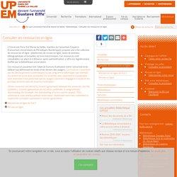 Consulter les ressources en ligne