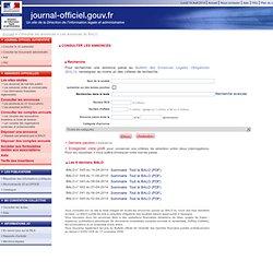 Consulter les Bulletins des Annonces Légales Obligatoires (BALO)