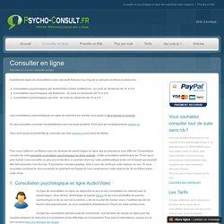Consulter un psychologue en ligne