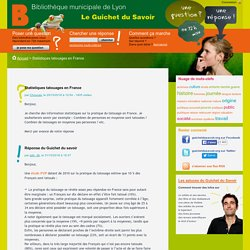 Le Guichet du Savoir - Consulter le sujet - Statistiques tatouages en France