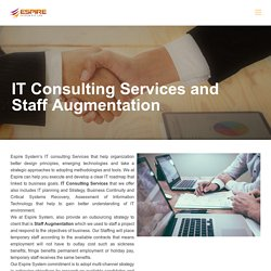 IT Consulting Services and Staff Augmentation - Espire System