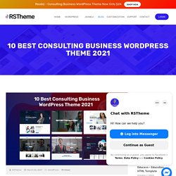 10 Best Consulting Business WordPress Theme 2021