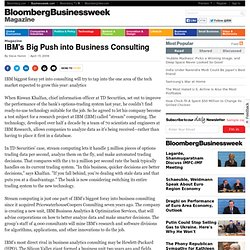 IBM's Big Push into Business Consulting