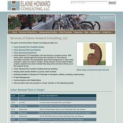 Oregon Urban Renewal Consultant
