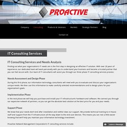 IT Consulting Services - Proactive Network Management Corporation