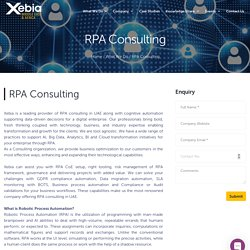 RPA consulting in Abu Dhabi, UAE