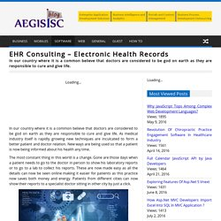 EHR Consulting – Electronic Health Records