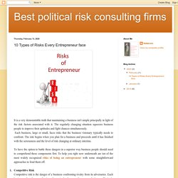 Best political risk consulting firms: 10 Types of Risks Every Entrepreneur face
