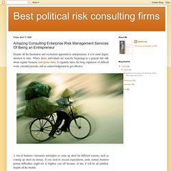 Amazing Consulting Enterprise Risk Management Services Of Being an Entrepreneur