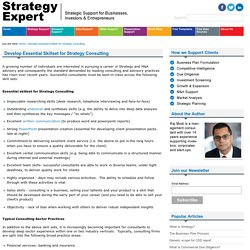Develop Essential Skillset for Strategy Consulting - Strategic Support for Investors, Businesses and Entrepreneurs