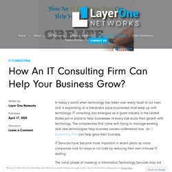 How An IT Consulting Firm Can Help Your Business Grow?