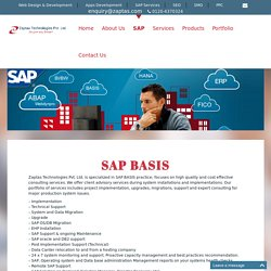 SAP BASIS, Consulting, Technical & Functional Upgrades, SAP Software