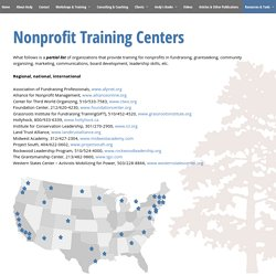 Nonprofit Training Centers - Andy Robinson - Consulting and training for grassroots groups