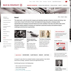 Retail consulting - Bain & Company - Industry Expertise