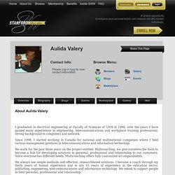 Stanford Who's Who - Aulida Valery Profile - Consulting, Training, Coaching