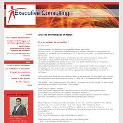 Executive consulting, conseil en stratégie et organisation d'entreprise et management