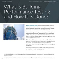 Building Consulting - Building performance testing