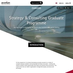 Strategy & Consulting Programme