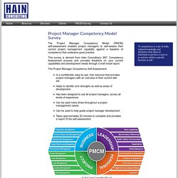Hain Consulting - Project Manager Competency Model Survey