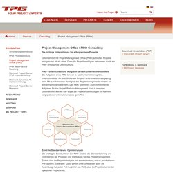 Consulting für Project Management Offices (PMO) TPG - The Project Group