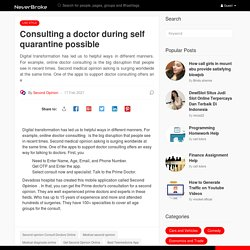 Consulting a doctor during self quarantine possible