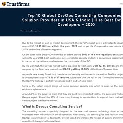 Top 10 DevOps Consulting/Services Companies - 2020