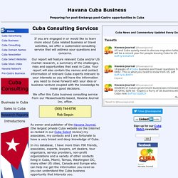 Cuba Consulting Services - legal, travel and documents - Havana.biz