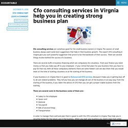 Cfo consulting services in Virgnia help you in creating strong business plan – ecountable