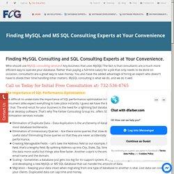 MySQL Consulting Services