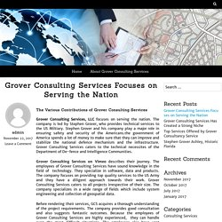 Grover Consulting Services Focuses on Serving the Nation