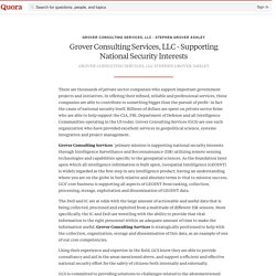 Grover Consulting Services, LLC - Supporting Na... - Grover Consulting Services, LLC - Stephen Grover Ashley - Quora
