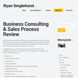 Business Consulting & Sales Process Review