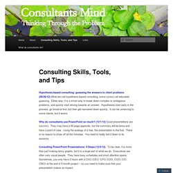 Consulting Skills, Tools, and Tips