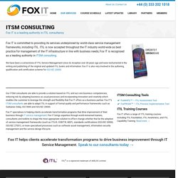 ITSM Consulting - Fox IT Enabling IT Service Transformation