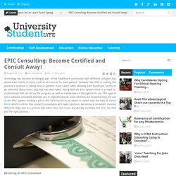 EPIC Consulting: Become Certified and Consult Away!