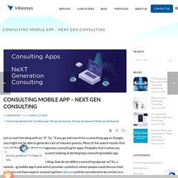 Consulting apps - NeXT Gen consulting