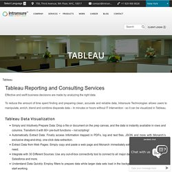 Tableau Consulting and Reporting Services, Tableau Data Visualization