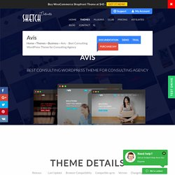 Avis Best Consulting WordPress Theme for Consulting Agency