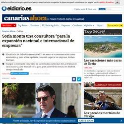 """Soria monta una consultora """"para la expansión nacional e internacional de empresas"""""""
