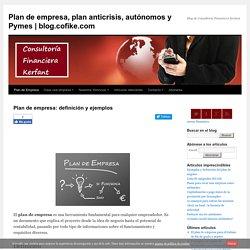 Plan de empresa - Concepto y ejemplos