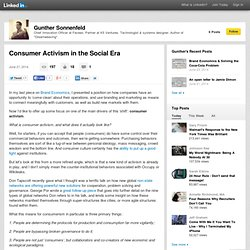 Consumer Activism in the Social Era