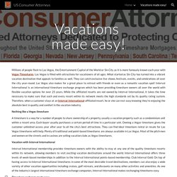 US Consumer Attorneys - Vacations made easy!